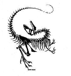 velociraptor skull tattoo - Google Search