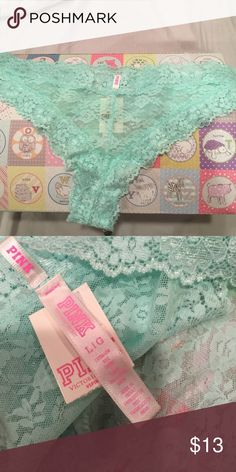 Pink Victoria's Secret Size L/G. Color light blue PINK Victoria's Secret Intimates & Sleepwear Panties