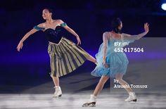 ニュース写真 : Mao Asada and Mai Asada of Japan perform their...