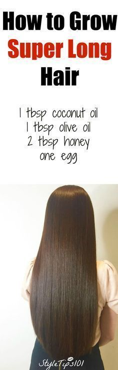 How to Grow Super Long Hair Youll Need: 1 tbsp coconut oil 1 tbsp olive oil 2 tbsp honey one egg Directions: In a medium bowl, combine all ingredients, making sure to beat the egg well before. Apply entire mixture to hair, starting from roots to ends. Hair Growth Tips, Hair Care Tips, Fast Hair Growth, Hair Mask For Growth, Healthy Hair Growth, Curly Hair Styles, Natural Hair Styles, Grow Long Hair, Long Hair Growing Tips