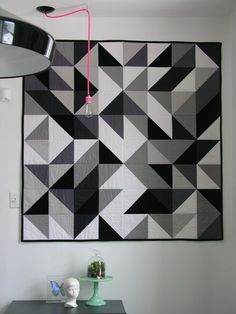 9 Rooms Mastering the Mix of Modern Design + Colorful Quilts