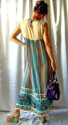 Romantic boho hippie gipsy dress with lace decoration, size XS - L by SunshineProduct, via Flickr