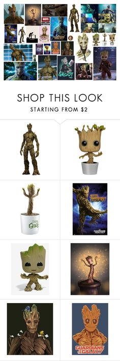 """G is for Groot - Alphabet Series Letter G"" by leacousty55 ❤ liked on Polyvore featuring Funko, Marvel and Marvel Comics"