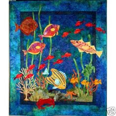 Fantasy Fish Quilt Pattern Underwater Tropical Reef DIY Lam Designs GRT w Batiks | eBay
