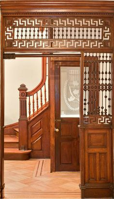 Dean Street Brooklyn brownstone Victorian partition woodwork interior by techpro12, via Flickr
