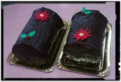 Tronco de Navidad de chocolate.