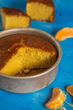 Eggless and Butterless Orange Sponge Cake Recipe Eggless Desserts, Eggless Recipes, Eggless Baking, Baking Recipes, Vegan Recipes, Vegan Baking, Healthy Orange Cake, Eggless Orange Cake, Vegan Orange Cake Recipe