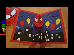 Happy Birthday Spiderman, Spiderman Pop, Kids Cards, Birthday Cards, Youtube, Diy, Geek, Homemade Cards, Ideas For Birthday Cards