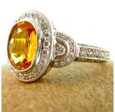 18kt. Golden Sapphire Ring