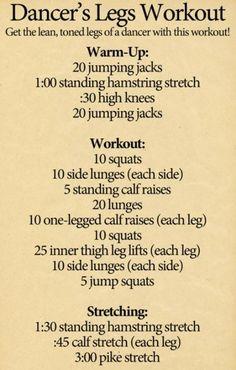 Dancer's Legs Workout!