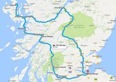 Ferie i Skotland: Vores road trip rute - Miss JeanettMiss Jeanett Cairngorms, Inverness, Round Trip, Banff, Glasgow, National Parks, Map, Travel, Edinburgh