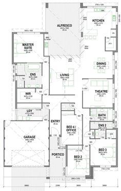 The Murray Canal Home Design House Layout Plans, New House Plans, Dream House Plans, House Layouts, House Floor Plans, Australian House Plans, 4 Bedroom House Plans, Model House Plan, House Ideas