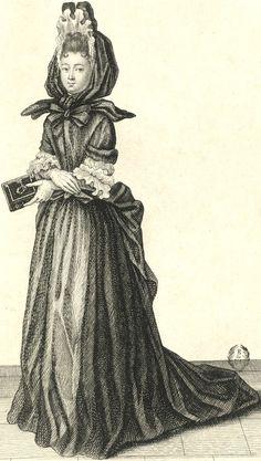 """""""Demoiselle de Saint Cyr"""" (1687)."""