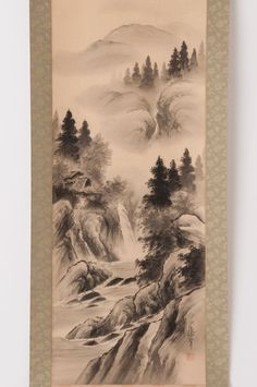 Check out Japanese hanging scroll Landscape painting on silk Antique wall art hs0697  http://www.ebay.com/itm/Japanese-hanging-scroll-Landscape-painting-on-silk-Antique-wall-art-hs0697-/122014216025?roken=cUgayN&soutkn=QHaz1B