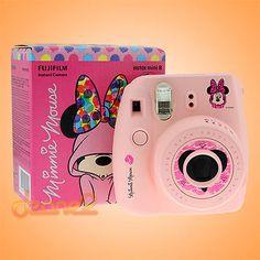 Camera Polaroid - Ideas That Produce Nice Photos Despite Your Talent! Polaroid Instax Mini, Fujifilm Instax Mini 8, Film Polaroid, Polaroid Cameras, Cute Camera, Mini Camera, Animes Wallpapers, Minnie Mouse, Decoration