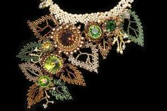 Autumn Asymmetry Necklace