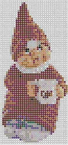 Hama Beads Design, Hama Beads Patterns, Beading Patterns, Bead Crafts, Diy And Crafts, Plastic Canvas, Perler Beads, Stocking Stuffers, Cross Stitch Patterns