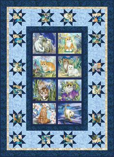 Be Pawsitive - Pawsitive Pets Free Quilt Pattern Quilt Patterns Free, Pattern Blocks, Free Pattern, Cat Quilt, Dog Quilts, Quilt Baby, Panel Quilts, Quilt Blocks, Robert Kaufman
