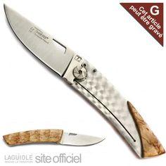 Couteau Régional THIERS-Bambou, manche en bouleau