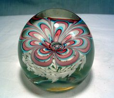 Vintage Fratelli Toso Murano Art Glass Flower Paperweight With K B Label | eBay