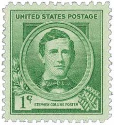 1940 1c Stephen Collins Foster - Catalog # 879 For Sale at Mystic Stamp Company