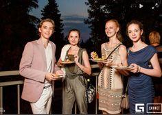 Young American at the Bolshoi: Julian MacKay wins Sochi and Istanbul medals - After party in Sochi – Julian with course IIA classmates Ekaterina Zavadina, Marfa Sidorenko (1st place girls) and Anya Nevzorova