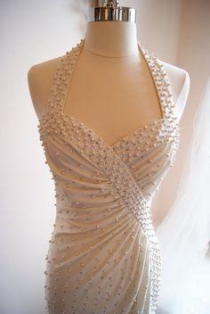 Wedding Dress / Vintage 1970s Designer White by xtabayvintage, $695.00