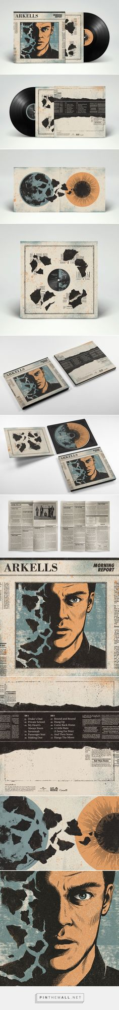 ARKELLS: Morning Report LP on Behance - created on 2016-08-27 00:15:04