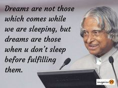 Abdul Kalam Quotes: The Missile Man of India is no wonder an inspiration to millions. Here are 14 realistic quotes of APJ Abdul Kalam to inspire you. Inspirational Quotes About Success, Morning Inspirational Quotes, Motivational Quotes For Life, Positive Quotes, Inspirational Thoughts, Quotes Motivation, Apj Quotes, Lesson Quotes, Study Quotes