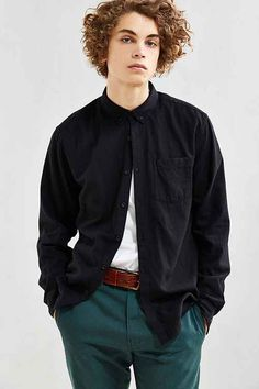 Men's Shirts | Flannel + Button Downs - Urban Outfitters