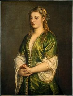Titian - Portrait of a Lady 1555. Venetian version of the Turkish style
