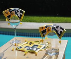 Drink Covers Georgia Tech Yellow Jackets GT Set of by AczarsDesign, $22.00