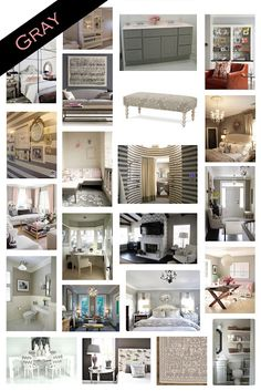 Gray inspiration board, always looks pretty with bright colors