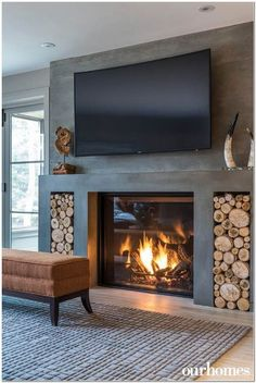 Excellent Images modern Fireplace Cover Ideas Gas fireplaces may be a perfect se. - Excellent Images modern Fireplace Cover Ideas Gas fireplaces may be a perfect selection for someone - Living Room Decor Fireplace, Home Fireplace, Fireplace Remodel, Home Living Room, Living Room Designs, Fireplace Ideas, Gas Fireplaces, Concrete Fireplace, Modern Fireplaces