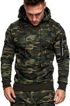 f4e79fe1cf4b Amaci Sons Herren Cargo-Style Pullover Sweatshirt Hoodie Sweater Camouflage  4003 Camouflage Khaki M  Amazon