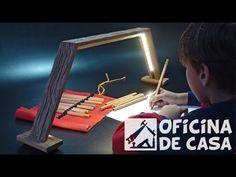Luminária de mesa com fita de led - em Reciclagem / Restauração | Oficina de Casa