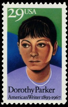 """Author Dorothy Parker wrote for """"Vanity Fair"""" and """"New Yorker"""" before going to Hollywood and pursuing screenwriting. She was noted for her wit and wisecracks, such as """"Men don't make passes at girls who wear glasses."""""""