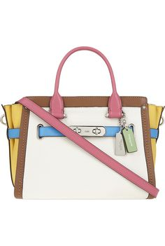 be92f8c97b Coach Swagger 27 rainbow pebbled leather tote ( 500) ❤ liked on Polyvore  featuring bags