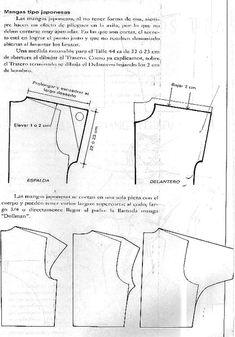 Pants Pattern, Top Pattern, Sleeve Pattern, Pattern Cutting, Pattern Making, Sewing Paterns, Japanese Sleeve, Drawing Clothes, Pattern Drafting