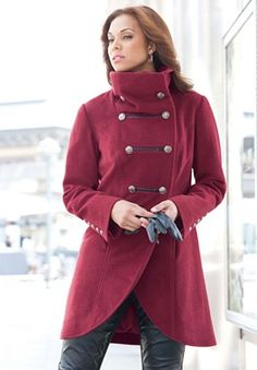Jessica London Coat in Military Style