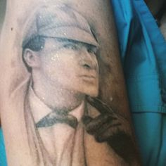 Still the Best actor to have ever played Holmes.  My newest Holmes related tattoo.  Next will be a Paget Illustration.