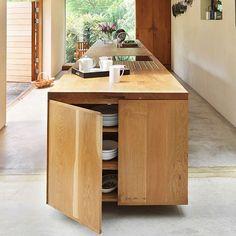 Modern kitchen with solid oak island | Kitchen decorating | Beautiful Kitchens | Housetohome.co.uk