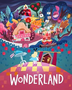 Joey Chou Disney Alice in Wonderland Gif Disney, Disney Magic, Disney Art, Disney Pixar, Alice Disney, Disney Villains, Alice In Wonderland Print, Alice In Wonderland Illustrations, Adventures In Wonderland
