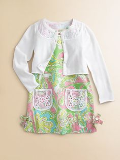 Lilly Pulitzer Toddlers Little Girls Shaylee Cardigan Sweater and Clothing