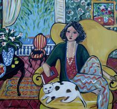 """""""Matisse Girl and Cats"""" by Suzanne Etienne"""
