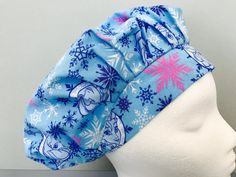 Your place to buy and sell all things handmade Frozen Sisters, Scrub Hats, Color Change, Scrubs, Cotton Fabric, Cap, Sewing, Handmade, Crafts