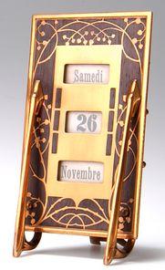 Erhard & Söhne, perpetual desk calendar, c. 1910     SOLD $420 Germany 2004