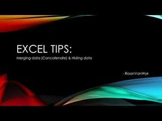 Excel tips and tricks. Channel, Tech, Youtube, Technology