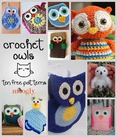 Can't get enough of these free crochet owl patterns! Roundups on Moogly!