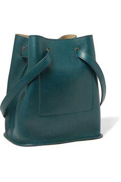 Shop on-sale Jil Sander Small leather bucket bag. Browse other discount designer Shoulder Bags Blue Shoulder Bags, Shoulder Handbags, Leather Shoulder Bag, Leather Purses, Leather Handbags, Blue Handbags, Designer Shoulder Bags, Fashion Bags, Fashion Outlet